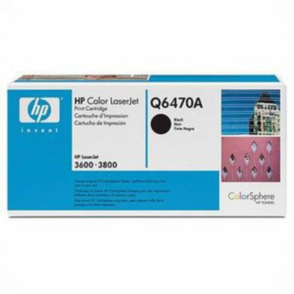 HP Toner Q6470A Schwarz (ca. 6000 Seiten)